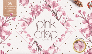 Free Pink Crisp Watercolor Collection