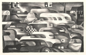 Benton Spruance: Traffic Control. Signed, dated, titled and inscribed Ed. 35 in pencil.