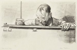 George Bellows, Indoor Athlete, Second Stone, 1921 original signed print for sale