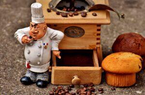 grinder, muffin, baker
