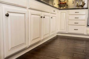Antique full wash glaze on maple cabinet refinishing demo