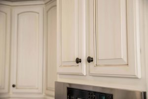 maple cabinet refinishing close-up image