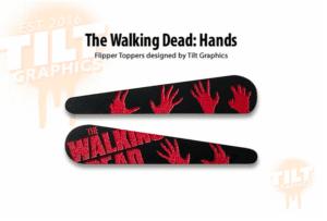 Walking Dead Terror Pinball Flipper Bat Toppers