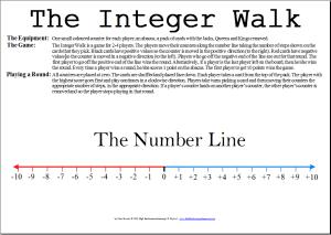 High Performance Learning Mathematics Board Game: Integer Walk