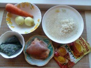 ингредиенты для плова при диете №5