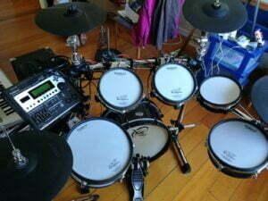 Backline hire, Drum kit, hire an electronic drum kit, Roland V-drum Td-12 drum module