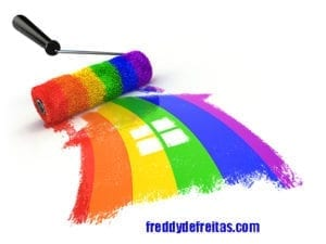 lgbt72b 300x225 House with colors of gay pride LGBT community. Homosexual relati