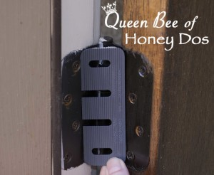 Easy Door Alignment to fix dragging, gapping and prevent drafts. A home improvement must for winterizing your home. Simple, easy DIY project!