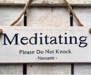 hanging meditation door sign