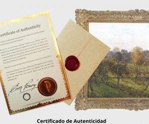 certificado de autenticidad fotografía