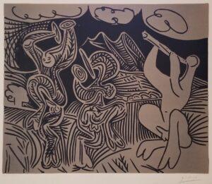 A signed original color lino by Picasso