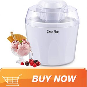Sweet Alice 1.5L Ice Cream Maker With Built In Freezer