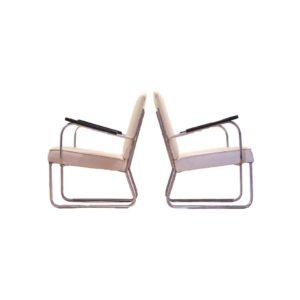 2x Fauteuils Bauhaus de Jan Schroefer pour Circkel, 1930s