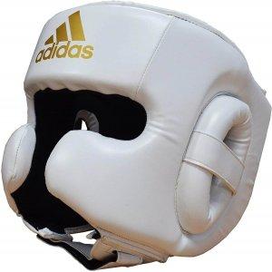 adidas Speed Sparring Casque d'entraînement de boxe blanc