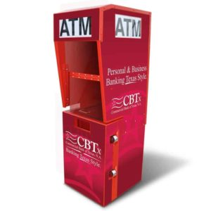 Outdoor ATM Kiosk with Lighted Topper Single Graphic Panel