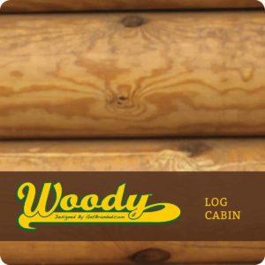 Woody ATM Wrap Log Cabin