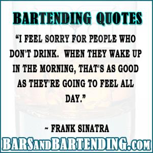 bar quotes sinatra on drinking