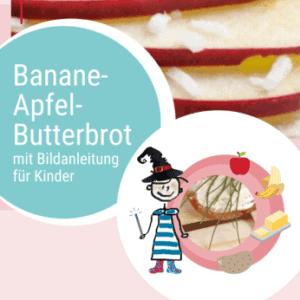 Rezept Banane-Apfel-Butterbrot