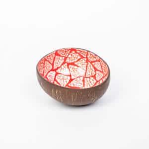 Rote Mosaik Kokosnussschale