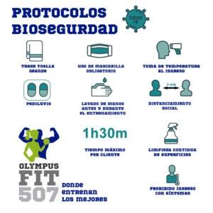 protocolos de bioseguridad olympusfit507