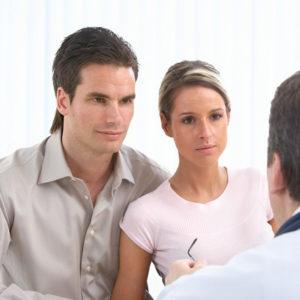 Семейная пара на приеме у сексолога