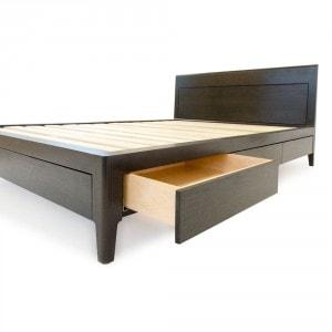 black walnut storage bed