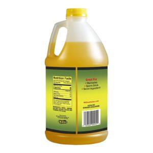 Back of 64oz Mt. Olive Pickle Juicer Bottle