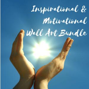 Inspirational & Motivational Wall Art Bundle Sales Cover