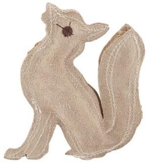 Leather Fox Dog Toy