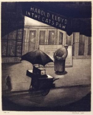 Armin Landeck, Cat's Paw Original Print For Sale