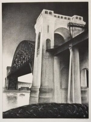 Original Louis Lozowick Hell Gate Lithograph For Sale