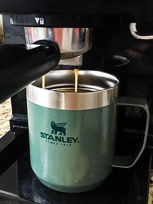 Pulling Espresso into Stanley Camp Mug