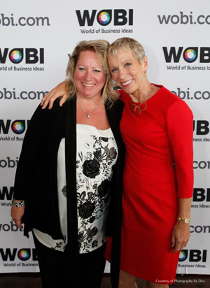 Stephanie Noel and Barbara Corcoran at WOBI (Photo courtesy of Photography by Dov)
