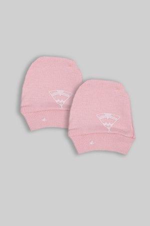 כפפות לתינוק - בסיס ורוד אוהלים (0-3 חודשים)