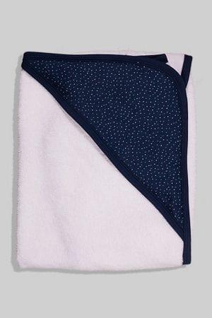מגבת לתינוק עם כובע - נקודות - כחול