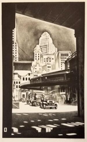 "Louis Lozowick, ""Hanover Square"", 1929"
