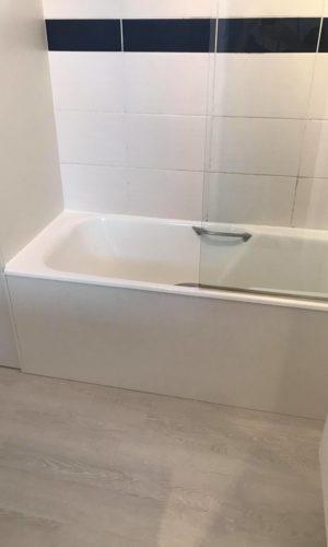 travaux dans la salle de bain