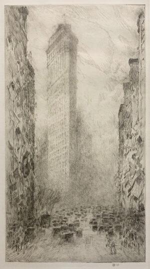 "Childe Hassam, ""Washington's Birthday - Fifth Avenue and 23rd Street"", 1916"