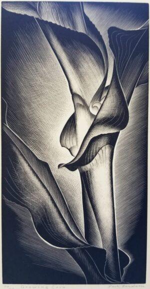 Original Paul Landacre wood engraving, Growing Corn for sale