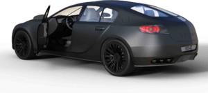 black car used in gig economy work