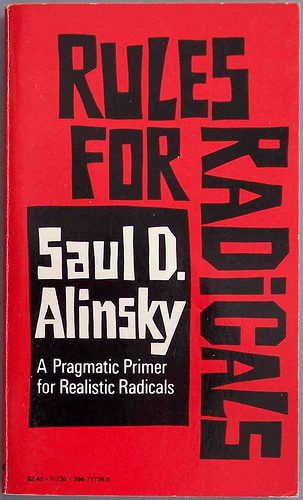 Cover: Rules for Radicals. Picture taken by cddrummbks and was sourced from flickr: http://www.flickr.com/photos/cdrummbks/4850348809/. Reproduced under a Creative Commons licence CC by 2