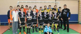 Команда Школы№7 по мини-футболу