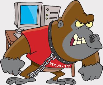 Digital security cartoon