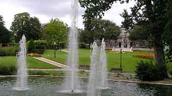 cognac city in france - cognac public garden