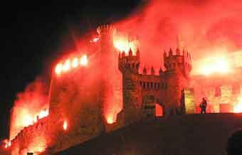 Templars night in ponferrada