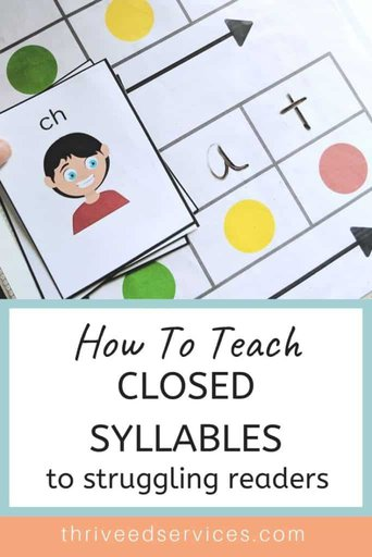 How to teach closed syllables - closed syllable, struggling readers, Orton Gillingham, multisensory, phonics, syllable rules, dyslexia intervention, reading intervention , CVC activities #closedsyllables #syllablerules #cvcactivities #dyslexia #ortongillingham
