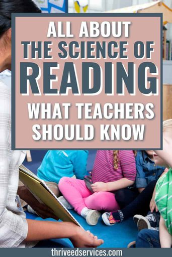 all about the science of reading - what teachers should know pin image