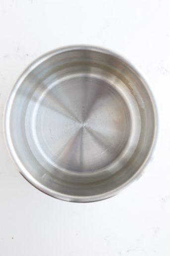 Top shot of a clean instant pot
