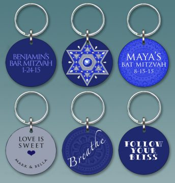 Royal Blue Star CKC126 Custom Keychain Party Favors by Mickie Caspi