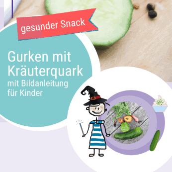 Rezept Gurken mit Kräuterquark